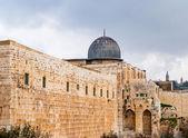 Al-aqsa moskee in de oude stad van jeruzalem, israël — Stockfoto