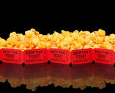 Cheesecorn and a Movie — Stock Photo