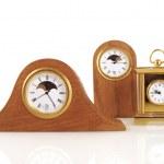 Three small clocks — Stock Photo