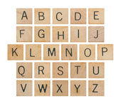 Alphabet on Wood — Stock Photo