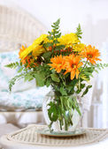 Flowers in the sun room — Stock Photo
