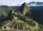 Typical view of Machu Picchu, Peru