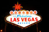 Welcome to Fabulous Las Vegas — Stock Photo