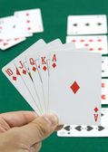 Royal straight flush — Stock Photo