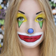 Young beautiful clown girl - Stockfoto