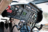 Dashboard of a helicopter — Stock Photo