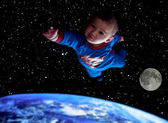 Earth! Flight to save you! — Stock Photo