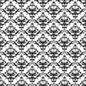 Seamless Black and White Damask Pattern — Stock Vector