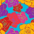 Seamless Bright Roses Pattern — Stock Vector