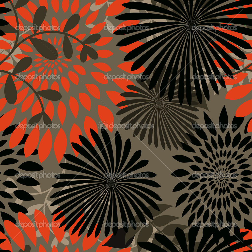Seamless Vector Pattern. Image is scalable and seamless, ideal for textiles, gift-wrapping and decorative papers, backgrounds, as well as wallpaper and more. — Stock Vector #8604545