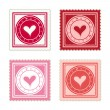 Be My Valentine Scalable Stamps — Vettoriali Stock
