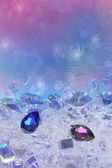 Blue and pink diamonds — Stock Photo