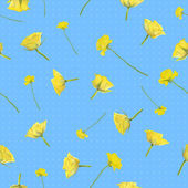 Seamless yellow, flying roses — Stock Photo