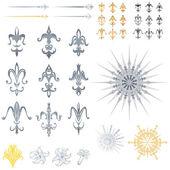 Fleur de lis ontwerpen — Stockvector