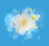графический букет - желтый цвет цветок — Стоковое фото