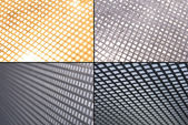 Metal grid grounds — Stock Photo