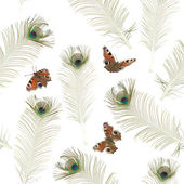 Seamless peacock butterfly pattern — Stock Photo