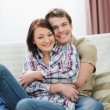 Stock Photo: Happy young couple enjoying spending time together