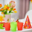 Closeup on table decorated for children's party — Stock Photo #10552816