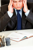 Stressed businessman aware of approaching deadline. Close-up. — Stock Photo