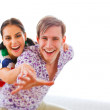 Portrait of young couple having fun — Stock Photo #8629969