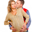 Stock Photo: Smiling pregnant woman with husband