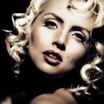 Marilyn Monroe imitation. Retro style — Stock Photo #8648009