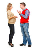 Young pregnant woman with husband — Stock Photo