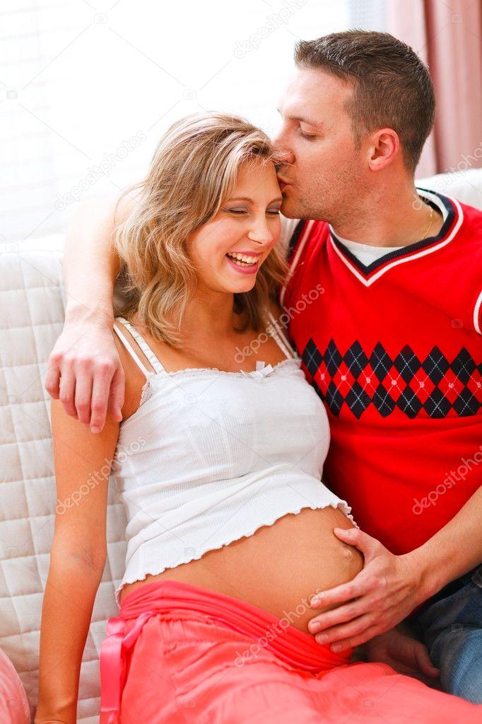 фото беременной жены раком