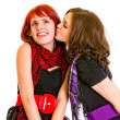 Young girl kissing her charming girlfriend — Stock Photo #8652059