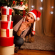 Beautiful girl near Christmas — Stock Photo #8653296