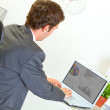 Modern businessmworking on laptop — Stockfoto #8654011
