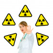 Stockfoto: Concept-radiation hazard!