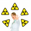 Concept-radiation hazard! — Foto de Stock