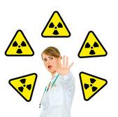 Concept-radiation hazard! — Stock Photo