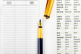 Stationery and financial documents — Stock Photo
