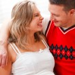 Portrait of happy pregnant woman with husband — Stock Photo