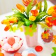 Closeup on table decorated for celebration — Stock Photo