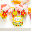 Stock Photo: Closeup on table decorated for child birthday celebration