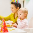 Babies first birthday party — Stock Photo