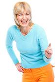 портрет смеялись пожилые женщины — Стоковое фото