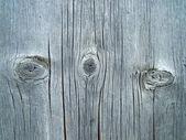 Textura de tablero de madera con tres nudos — Foto de Stock