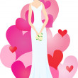 Stock Vector: Charming bride