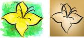Zestaw dwóch kwiatów tła. eps 10 — Wektor stockowy