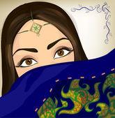 Beautiful oriental woman. Eps 10 — Stock Vector