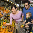 Royalty-Free Stock Photo: Family grocery shopping.