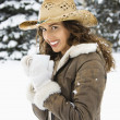 Woman in snow. — Stock Photo #9215871