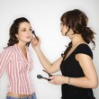 Makeup artist and woman. — Lizenzfreies Foto