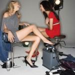 Model women talking. — Stock Photo