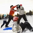Family playing in snow. — Stock Photo #9222101